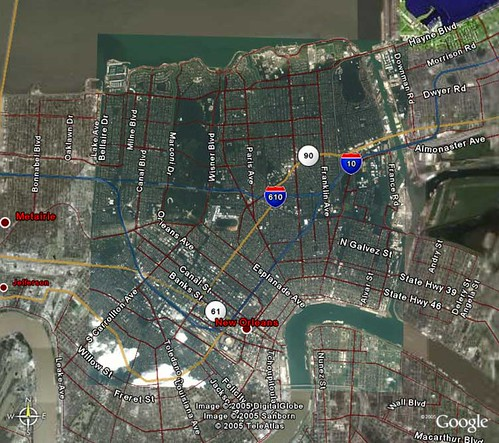 NOLA flood - Google Earth Overlay