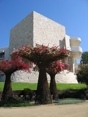 Aug. 30 - view of Getty from garden 2