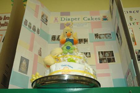 Diaper Cake, courtesy of a MN 4-H'er