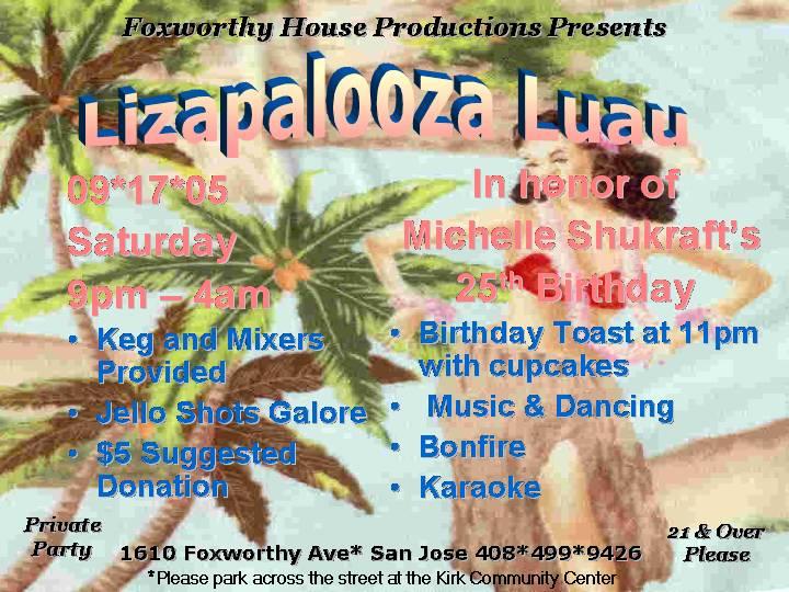 Lizapalooza Luau