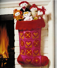 Family Stocking from Treasury of Christmas Crafts & Foods