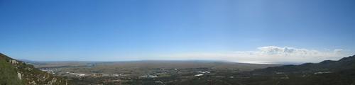 Vista del delta de l'Ebre des de Montsianell