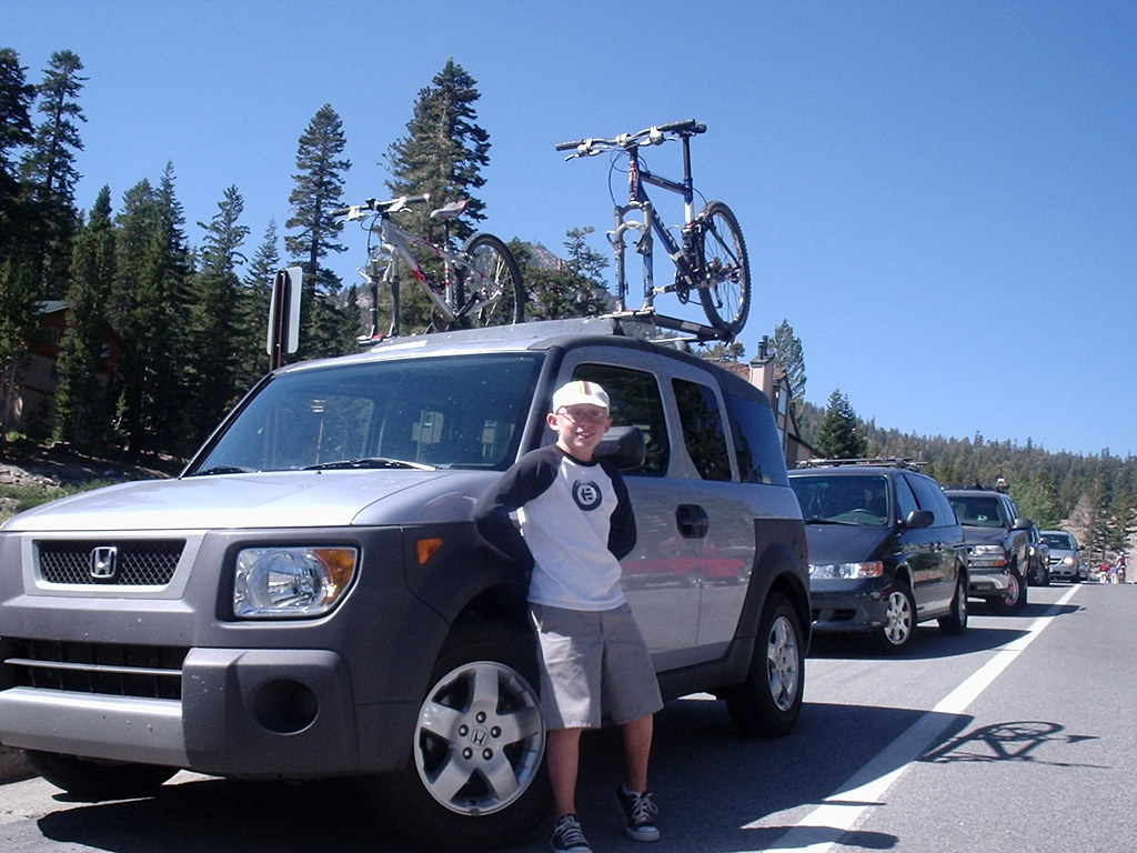 Here is a pic of my element and my son during our trip to mammoth ca