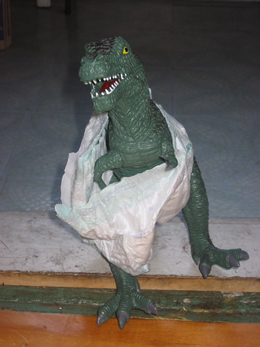 dino in diapers