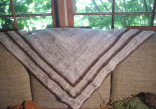Pure Angora and Alpaca Shawl