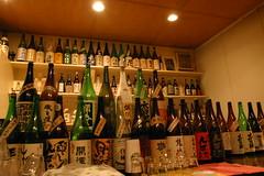 Many sake bottles from kamome's stream on flickr