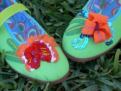 Sapatos orquídea brasileira