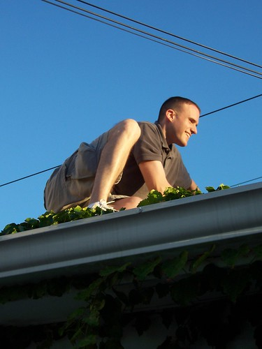 Dave on the Garage Roof
