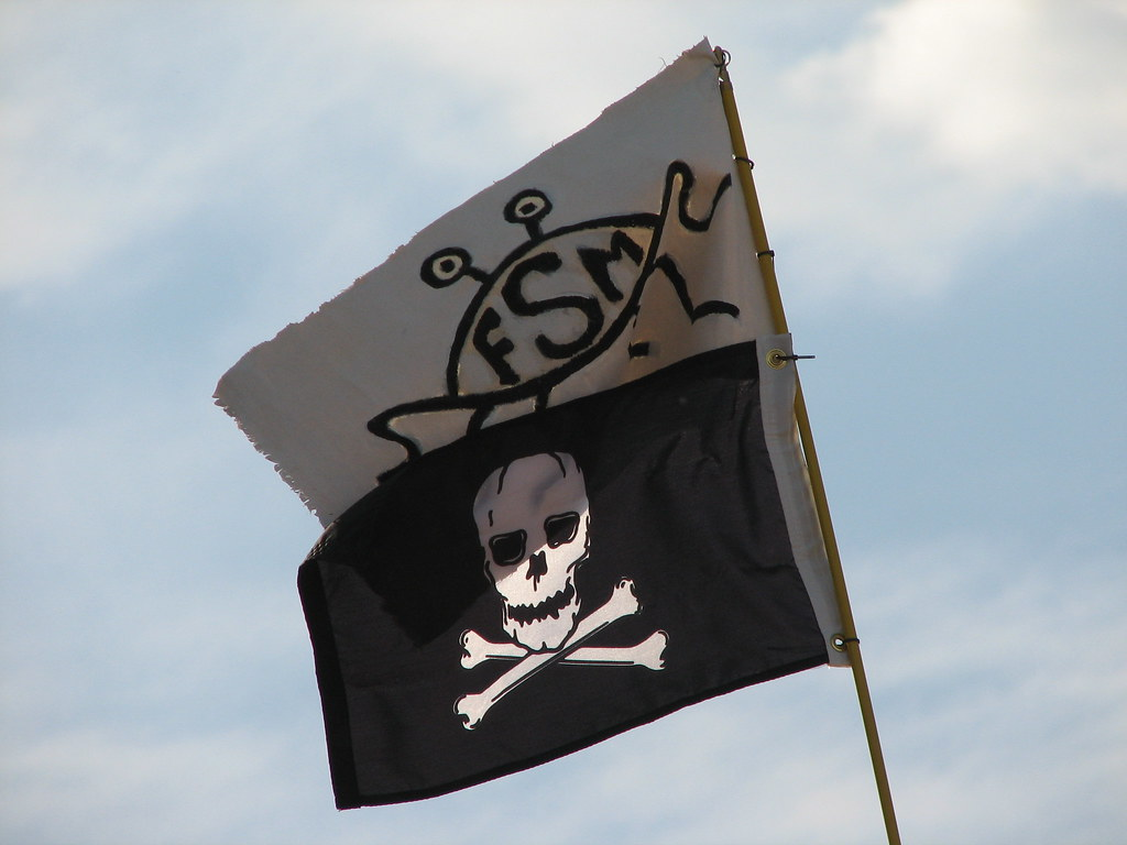 Flying Spaghetti Monster & Jolly Roger flags