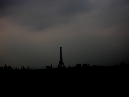 grey sky over Paris