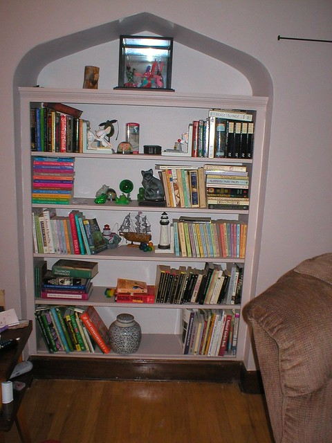 Nautical Bookcase Media Wall - Classic Wood Entertainment Center
