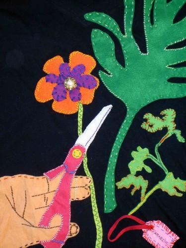 T-shirt florista pormenor
