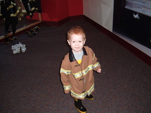 My adorable little fireman!