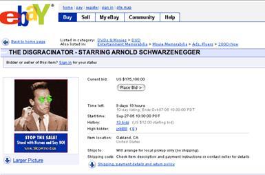 arnie on ebay