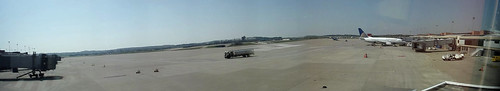 Merged Daylight Panoramic Picture of PIT airport