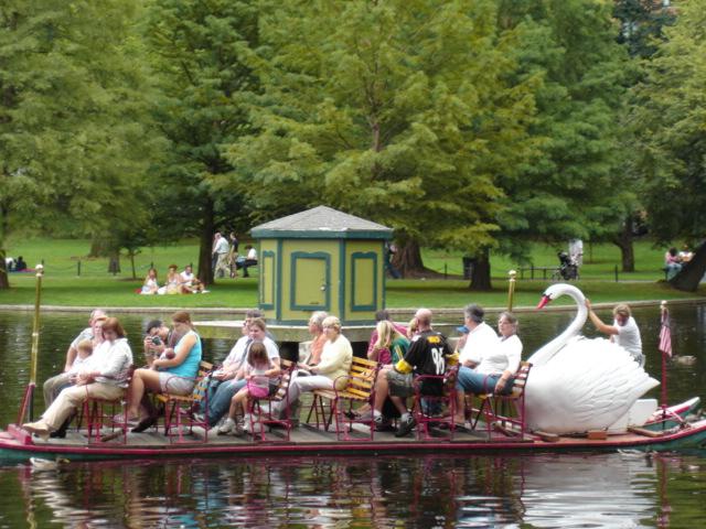 It's a swan boat!