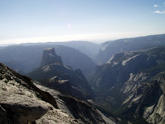 half dome from behind