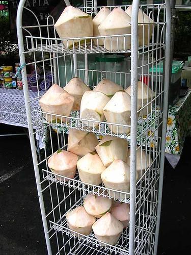 market coconuts