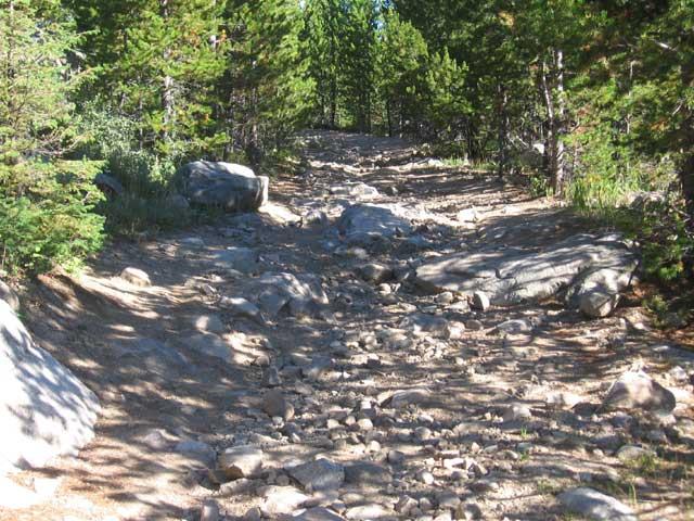 lava mountain rocky trail
