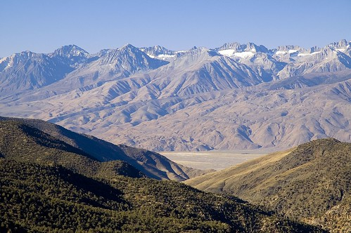 Sierra Crest Across Owens Valley