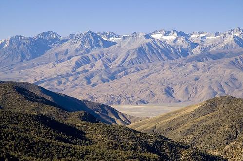 Sierra Crest Across Owens Valley