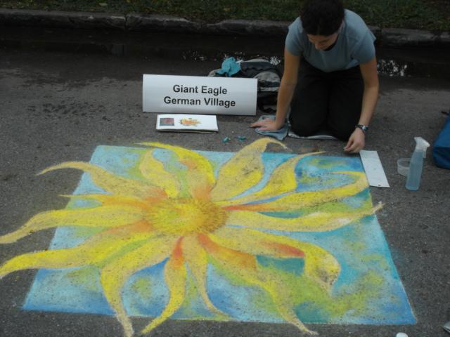 fleur de sidewalk chalk