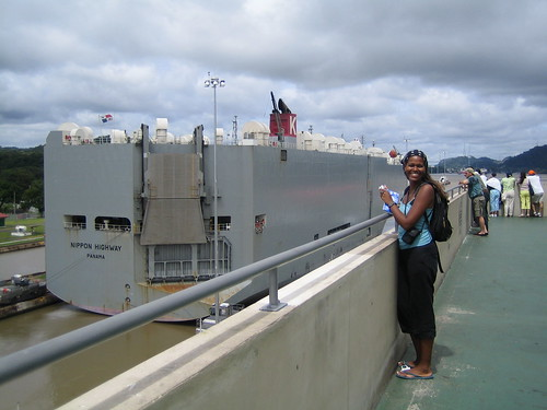 Tracy checks out the Panama Canal