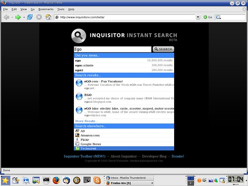 EGO Inquisitor search engine