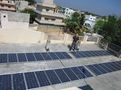 Solar Panel Array na Uradu Kuppam i Skupnosti