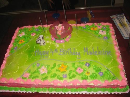 Maddys big birthday cake Gail at Large