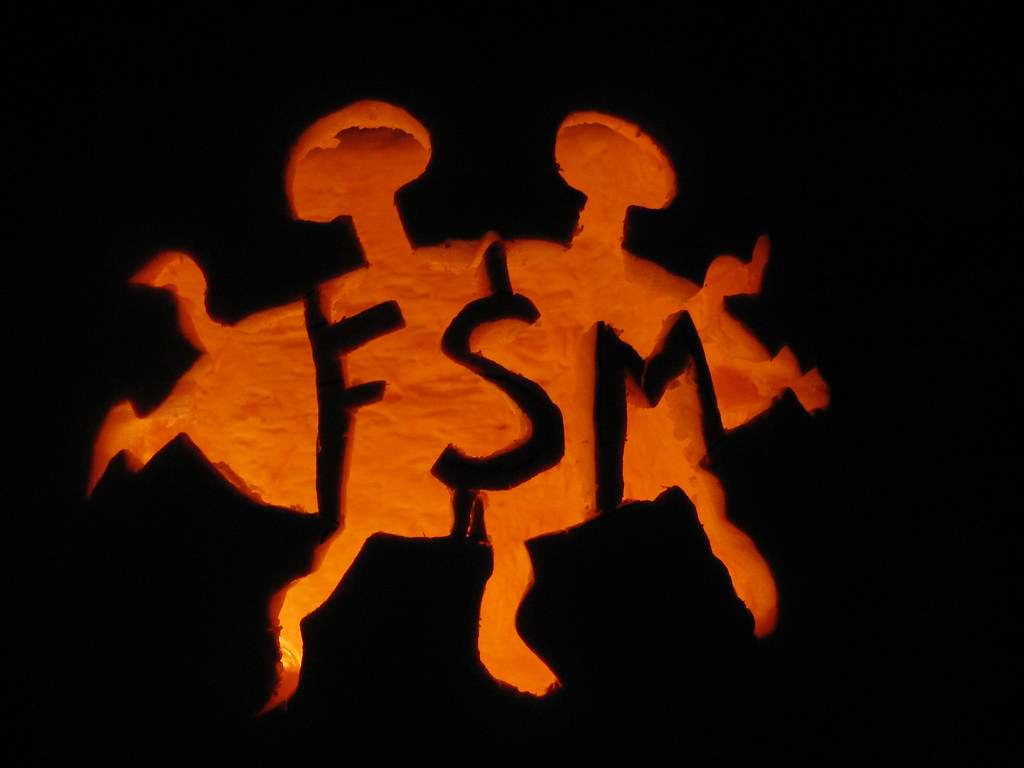 Flying Spaghetti Monster pumpkin