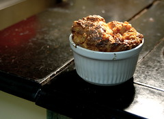 pork crackle and asparagus souffle