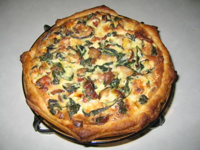 Spinach-Leek-Mushroom Quiche