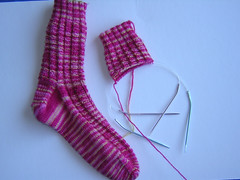 fluted banister sock 2 in progress