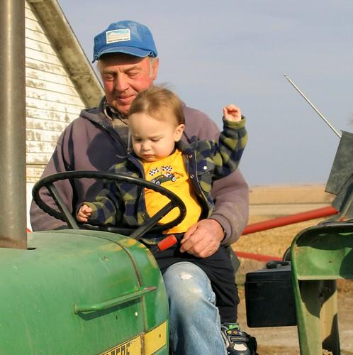 On Tractor w/ Grandpa F