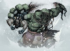 Picture of the Moment:  Ultimate Hulk vs. Wolverine