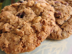 Chocolate-Chunk Oatmeal Cookies with Walnuts and Dried Cranberries