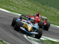 Alonso(azul) vs Schumacher(rojo)
