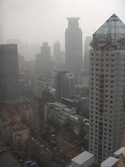 A view of Shanghai from my hotel room