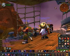 My Alliance Night Elf Warrior takes a Horde Zeppelin
