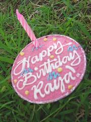 raya's cupcake with candle