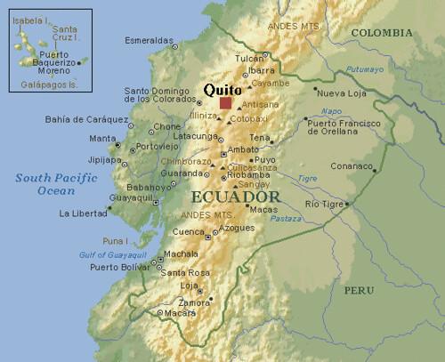 Volcanes de ecuador for Cabine del fiume bandera