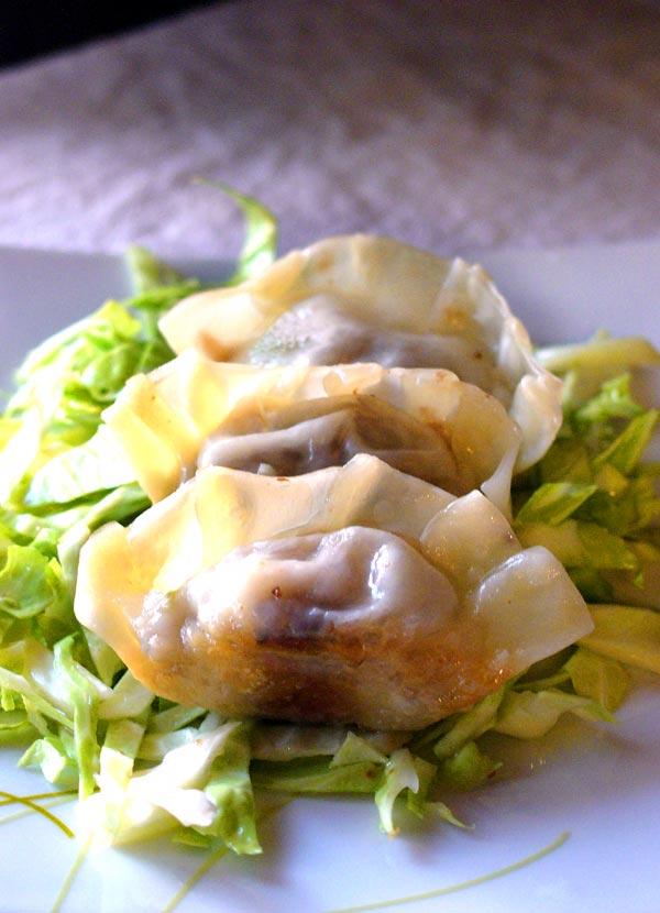 kalua pig dumplings