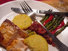 Salmon, Polenta, Asparagus