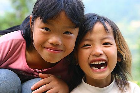 Smiling kids!