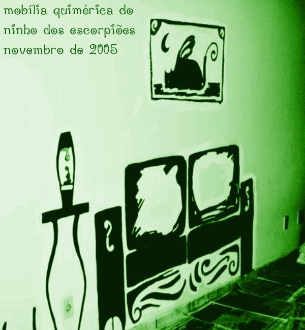 a primeira foto verde da Mobília Quimérica do Ninho dos Escorpiões