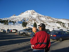 Leda and Daddy at Mt.Hood