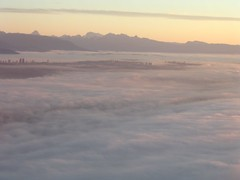Fog over greater Vancouver