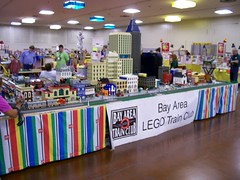 Bay Area LEGO Train Club at San Jose Train Show in Sep. 2005