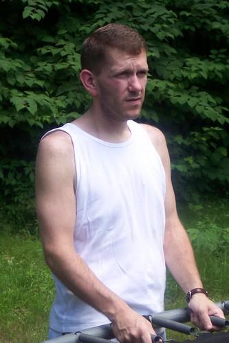 Bob near goal- July 2005
